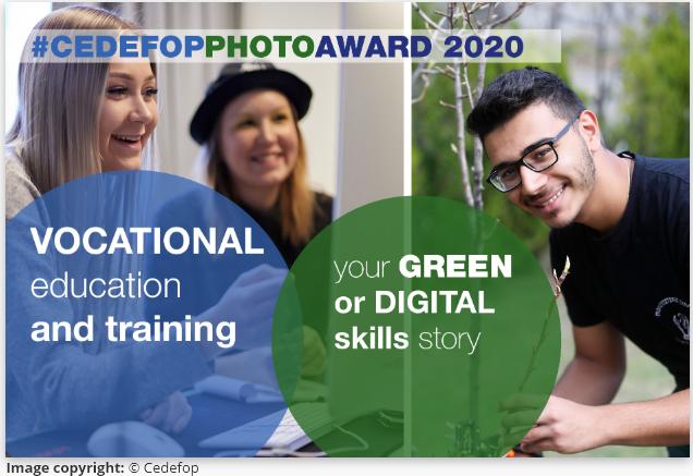 """Cedefop fotonatjecanje 2020 na temu """"Strukovno obrazovanje i osposobljavanje: tvoja priča o zelenim ili digitalnim vještinama"""""""